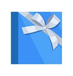Gift box icon in flat style design vector