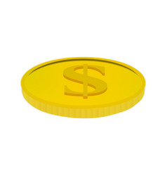 gold coin with a dollar sign vector image