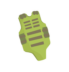 Green bulletproof vest cartoon vector
