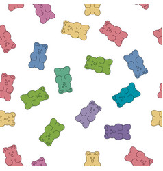 gummy bear candies vector image