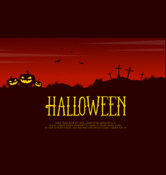 halloween card style background collection vector image
