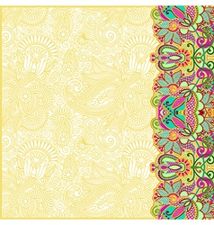 hand draw floral ornate card announcement vector image