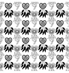 hand drawn seamless pattern with native american vector image