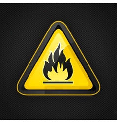 Hazard flammable warning vector