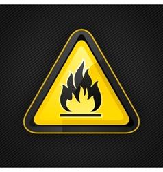 hazard flammable warning vector image