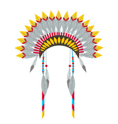 Indian headgear flat vector