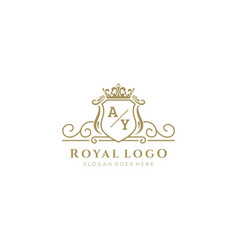 Initial ay letter luxurious brand logo template vector
