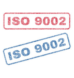 Iso 9002 textile stamps vector