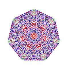 Isolated ornate geometrical flower heptagon logo vector