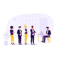 job vacancy and search for an employee vector image