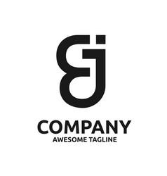 letter ej logo design vector image