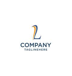 Letter l luxury swoosh corporate logo design vector