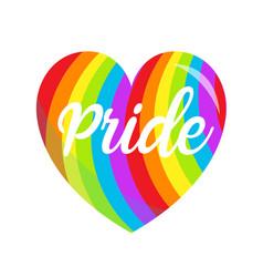 Lgbt rainbow heart symbol icon gay pride vector