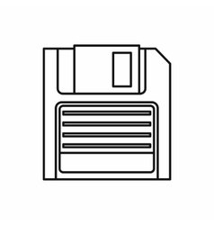 Magnetic diskette icon outline style vector