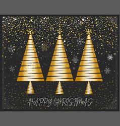 merry christmas card design on a festive vector image