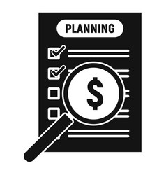 money planning icon simple style vector image