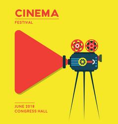 movie cinema poster design vector image