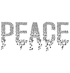 musical notes in peace vector image