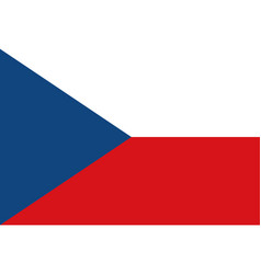 national flag czech republic vector image