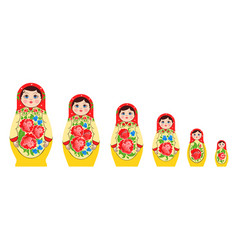Nested russian doll set vector
