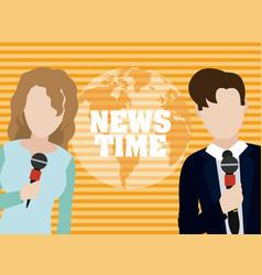 news time cartoons vector image