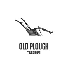 old plough vector image