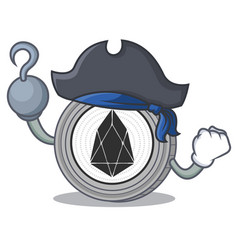 Pirate eos coin character cartoon vector