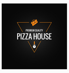 pizza logo design background vector image