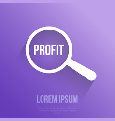 profit word magnifying glass vector image