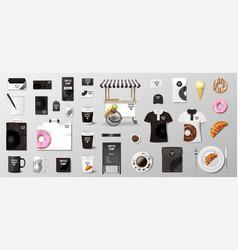 realistic mockup for bakery shop restaurant cafe vector image