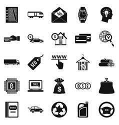 Reasonableness icons set simple style vector