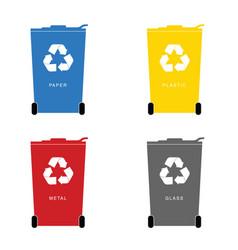 Recycle trashcan set vector