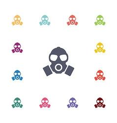 Respirator flat icons set vector