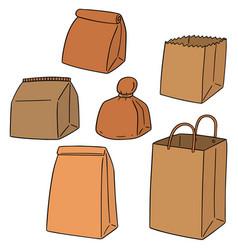 set of paper bag vector image