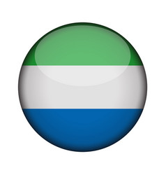 Sierra leone flag in glossy round button of icon vector