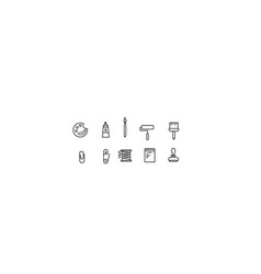 Simple collection icon vector
