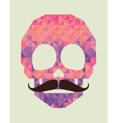 skull made of triangles vector image