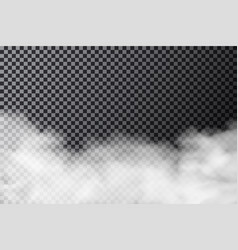 Smoke cloud on transparent background realistic vector