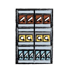 supermarket shelves design concept vector image