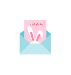 the letter with a happy easter greeting card vector image