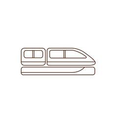 train cabin icon vector image