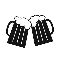 Two glasses or beer mugs vector