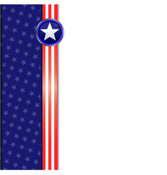 Usa flag frame background vector