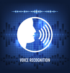 Voice recognition tech icon vector