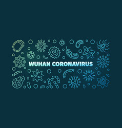 Wuhan coronavirus concept outline colored vector
