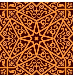 Arabian seamless pattern with a central star vector