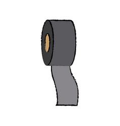 Bandage roll medical help equipment vector