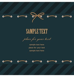frame rope stitch line vector image