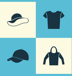 garment icons set collection of sweatshirt vector image