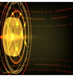 Techno Circle Abstract Background vector image